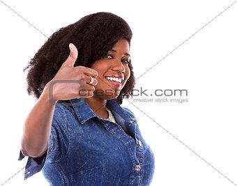 casual black woman