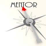Compass with mentor word