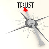 Compass with trust word