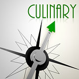 Culinary on green compass