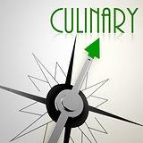 Culinary on green compass