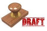 Draft wooded seal stamp