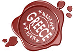 Made in Greece label seal isolated
