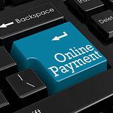 Online payment concept 3D Render