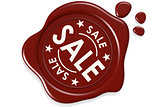 Sale label seal isolated