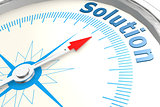 Solution word on isolated compass