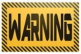 Banner with warning word