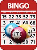 Bingo card and balls background