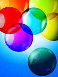Colorful bubbles 3D background