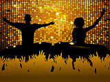 Female and male DJ party background