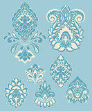 Vector Paisley Design Elements