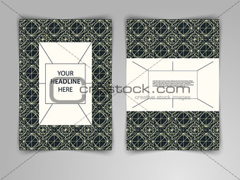 Abstract dark geometric design with interweaving of thin lines.