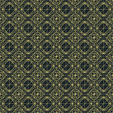 Vector dark seamless pattern with interweaving of thin lines.