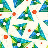 Pattern with triangles and thin lines.