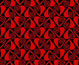 heart seamless pattern. Love background