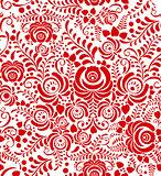 stylized floral seamless pattern