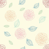 cute rose seamless pattern