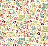 spring Summer floral seamless pattern