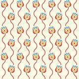 stylized floral background. Retro seamless pattern