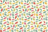 Colorful leaf seamless pattern