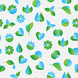 Seamless pattern with vector Eco Icons