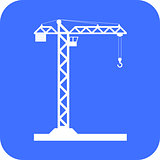 Building Tower crane icon - vector.
