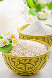 Bowl with rice jasmine