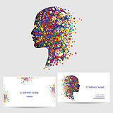 Vector icon design element, business card template