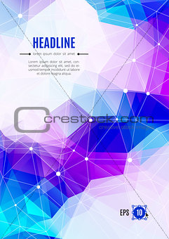 Business brochure Abstract polygonal backgrounds