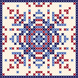 Cross stitch pattern, Scandinavian ornament