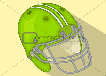 American Football Helmet isometric flat