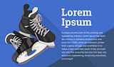Ice Skates isometric flat vector