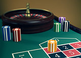 gambling, roulette game