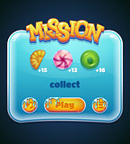 Game window for mission computer app