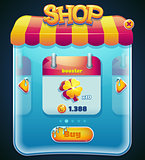 Game shop window for computer app