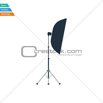 Flat design icon of softbox light in ui colors