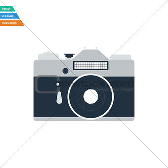 Flat design icon of retro photo camera