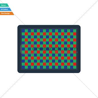 Flat design icon of photo  camera sensorFlat design icon of phot