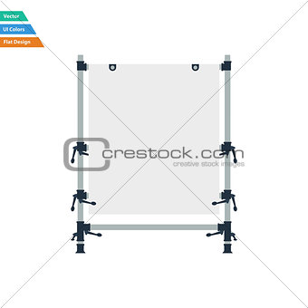 Flat design icon of table for object photography