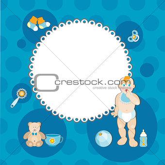 Card of fun baby boy.