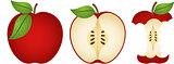 Three fresh apples