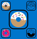 Doughnut icons set