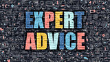 Expert Advice Concept with Doodle Design Icons.