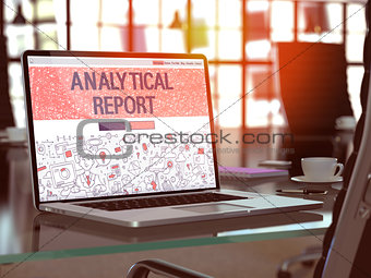 Analytical Report Concept on Laptop Screen.