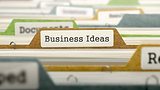 Business Ideas Concept on Folder Register.