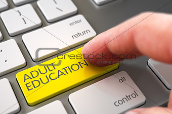 Adult Education - Modern Laptop Keyboard Concept.