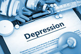 Depression Diagnosis. Medical Concept.