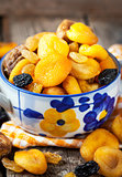Dried fruits in a bowl