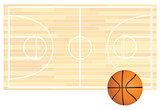 Basketball Field Background