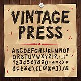 Vintage Press Font